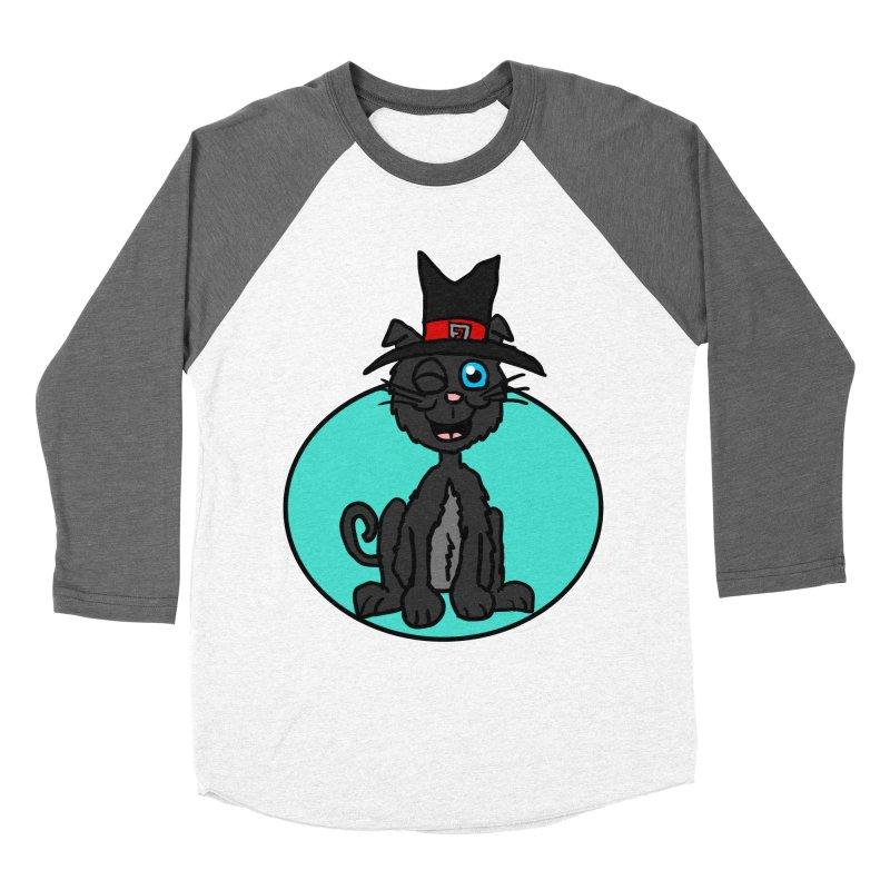 Black Cat Witch Women's Baseball Triblend T-Shirt by ericallen's Artist Shop
