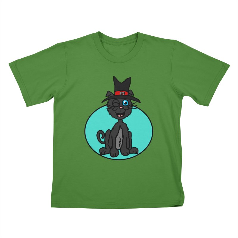 Black Cat Witch Kids T-shirt by ericallen's Artist Shop