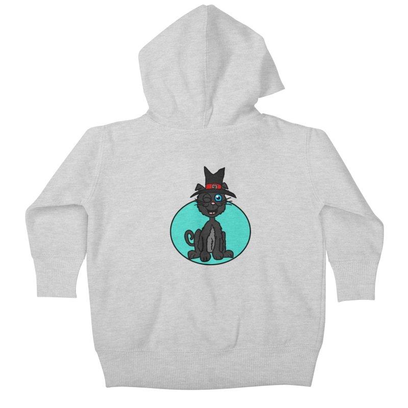 Black Cat Witch Kids Baby Zip-Up Hoody by ericallen's Artist Shop