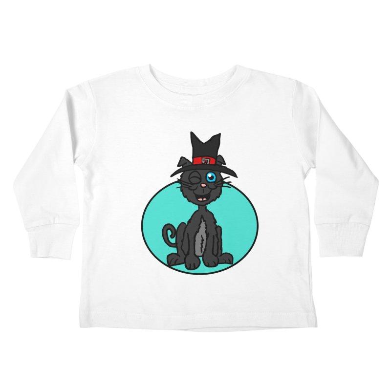 Black Cat Witch Kids Toddler Longsleeve T-Shirt by ericallen's Artist Shop