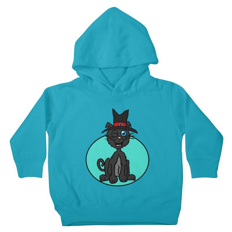 Black Cat Witch Kids Toddler Pullover Hoody by ericallen's Artist Shop