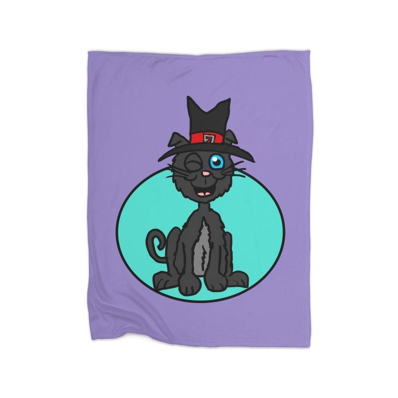 Black Cat Witch Home Blanket by ericallen's Artist Shop