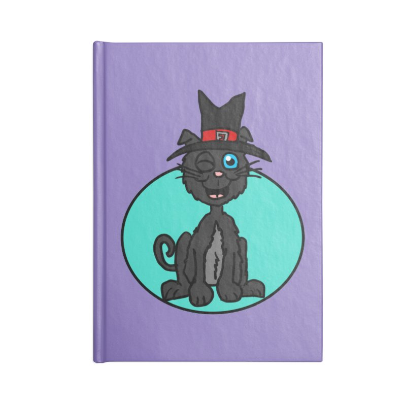 Black Cat Witch Accessories Notebook by ericallen's Artist Shop