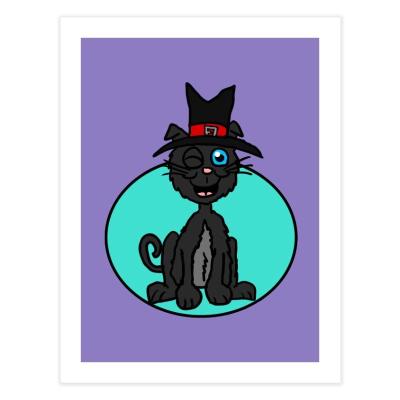 Black Cat Witch Home Fine Art Print by ericallen's Artist Shop
