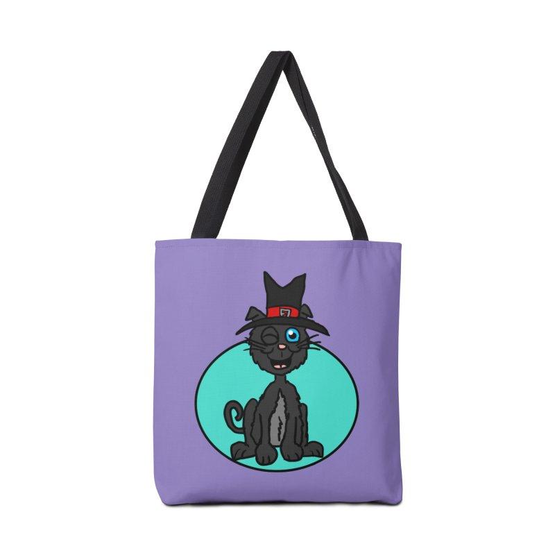 Black Cat Witch Accessories Bag by ericallen's Artist Shop