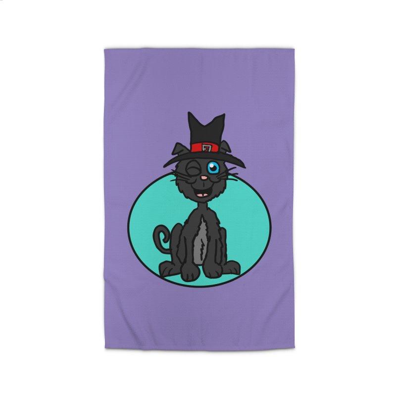 Black Cat Witch Home Rug by ericallen's Artist Shop
