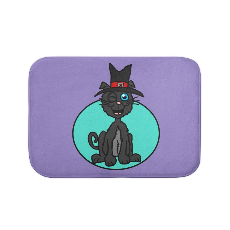 Black Cat Witch Home Bath Mat by ericallen's Artist Shop