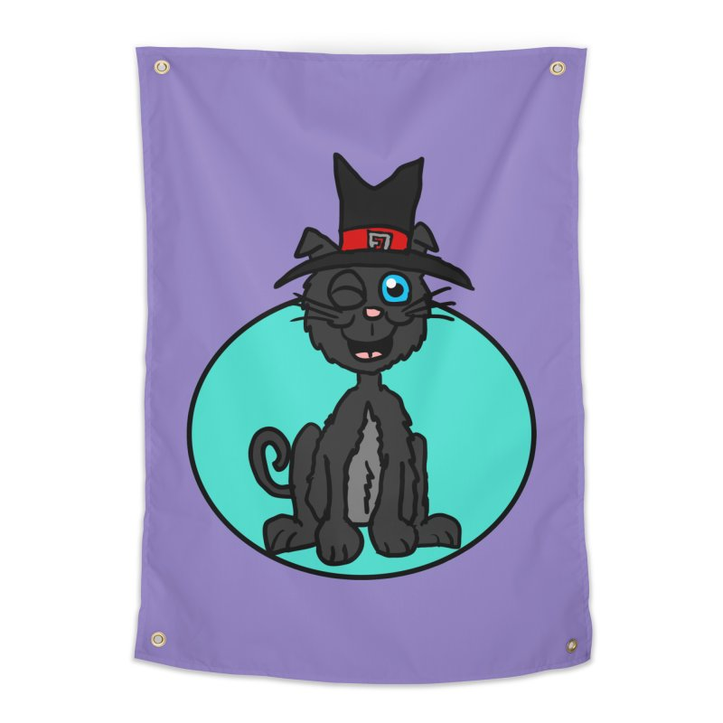 Black Cat Witch Home Tapestry by ericallen's Artist Shop