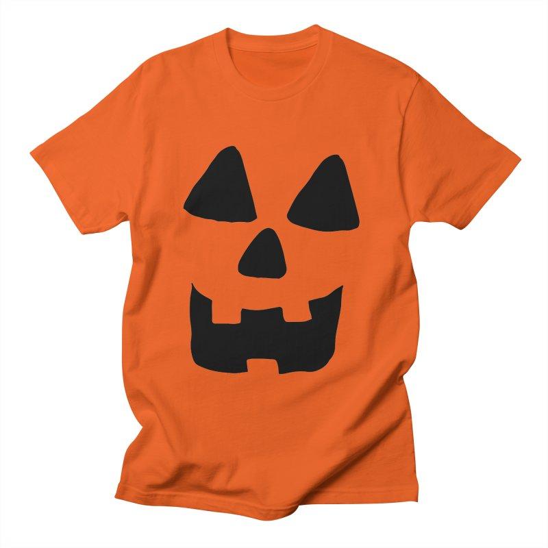 Jackolantern face in Men's T-shirt Orange Poppy by ericallen's Artist Shop