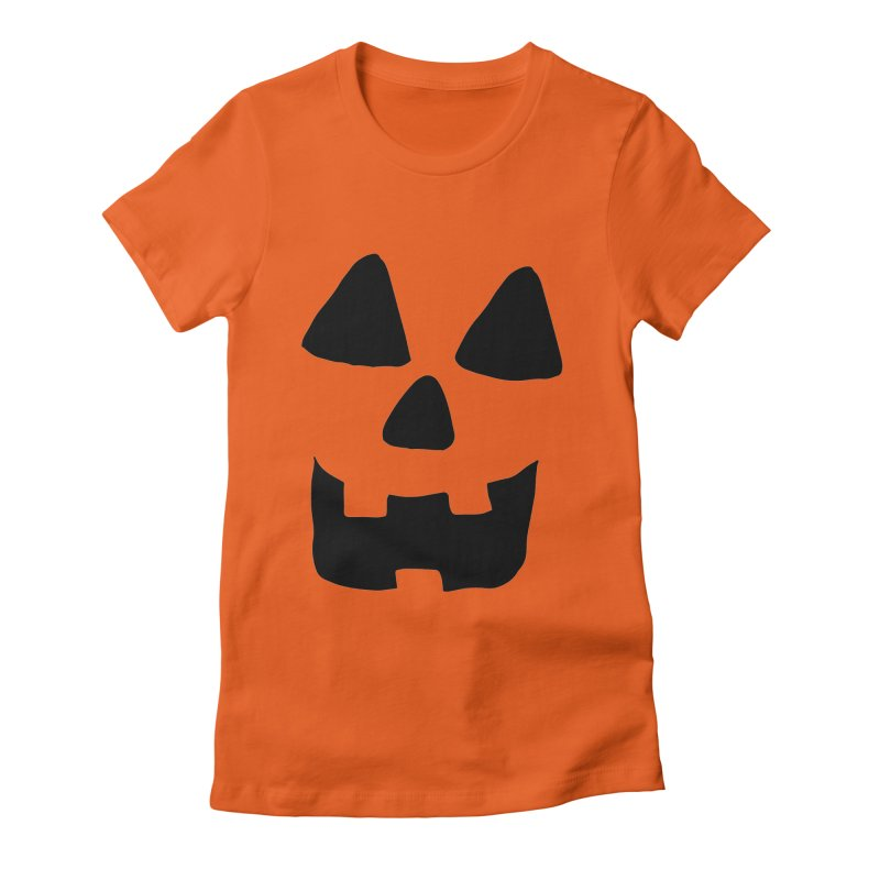 Jackolantern face Women's Fitted T-Shirt by ericallen's Artist Shop