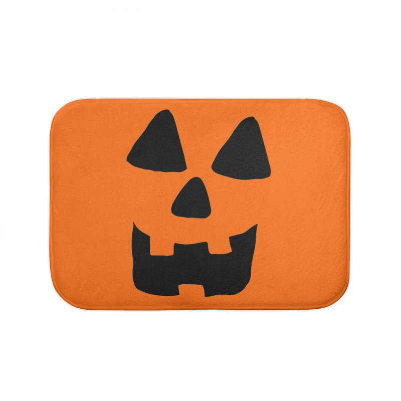 Jackolantern face Home Bath Mat by ericallen's Artist Shop