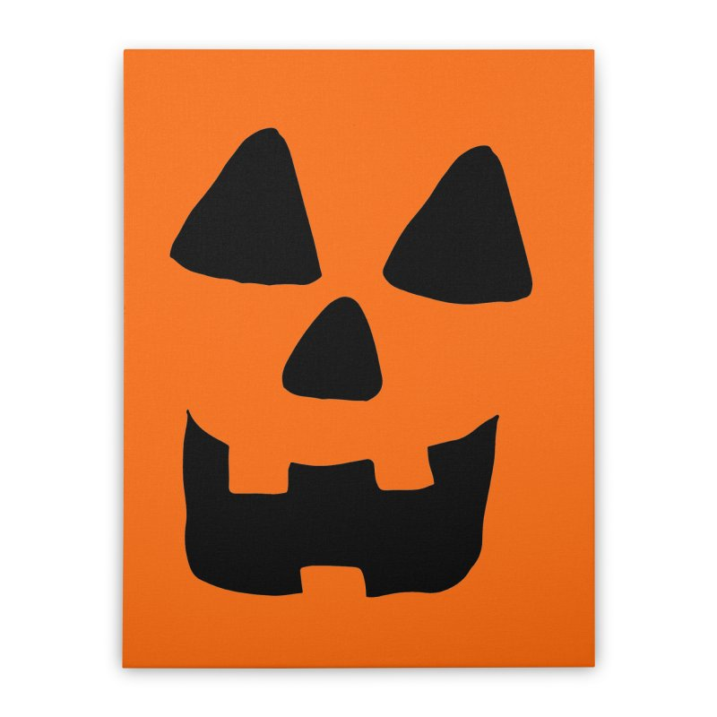 Jackolantern face Home Stretched Canvas by ericallen's Artist Shop