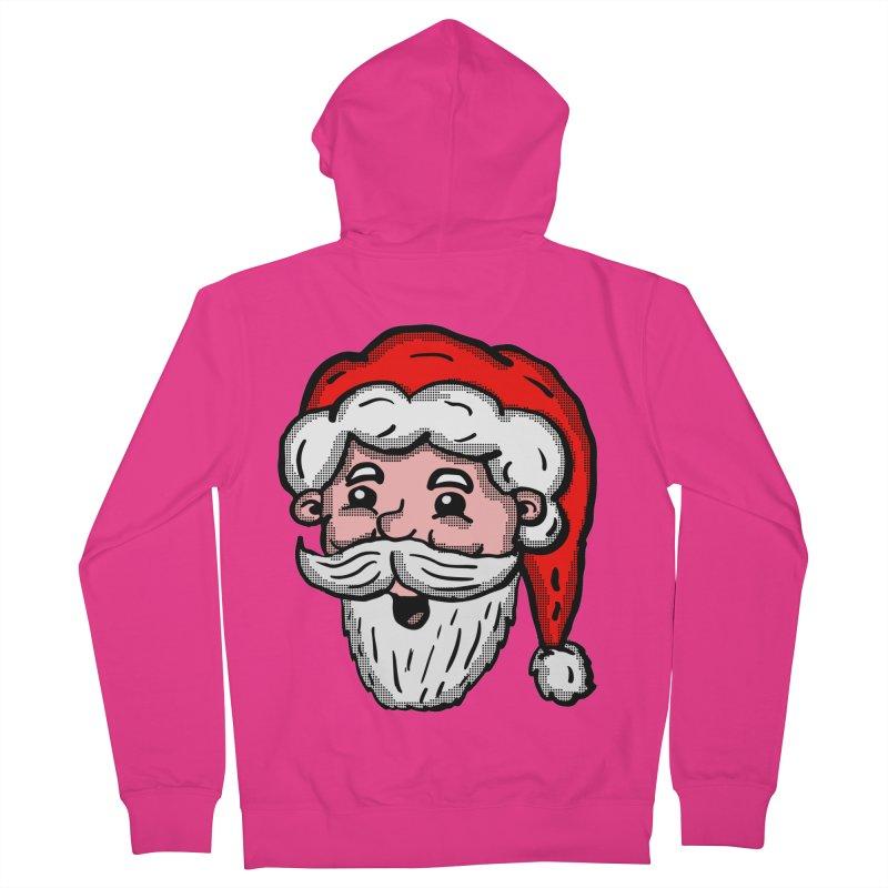 Cartoon Santa Head Men's Zip-Up Hoody by ericallen's Artist Shop
