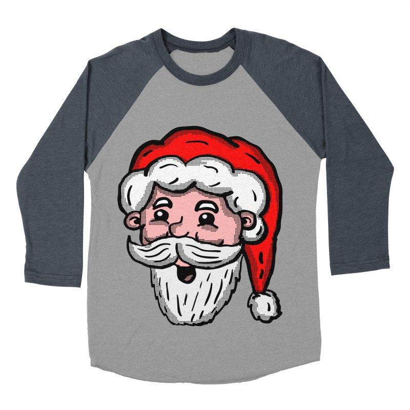 Cartoon Santa Head Women's Baseball Triblend T-Shirt by ericallen's Artist Shop