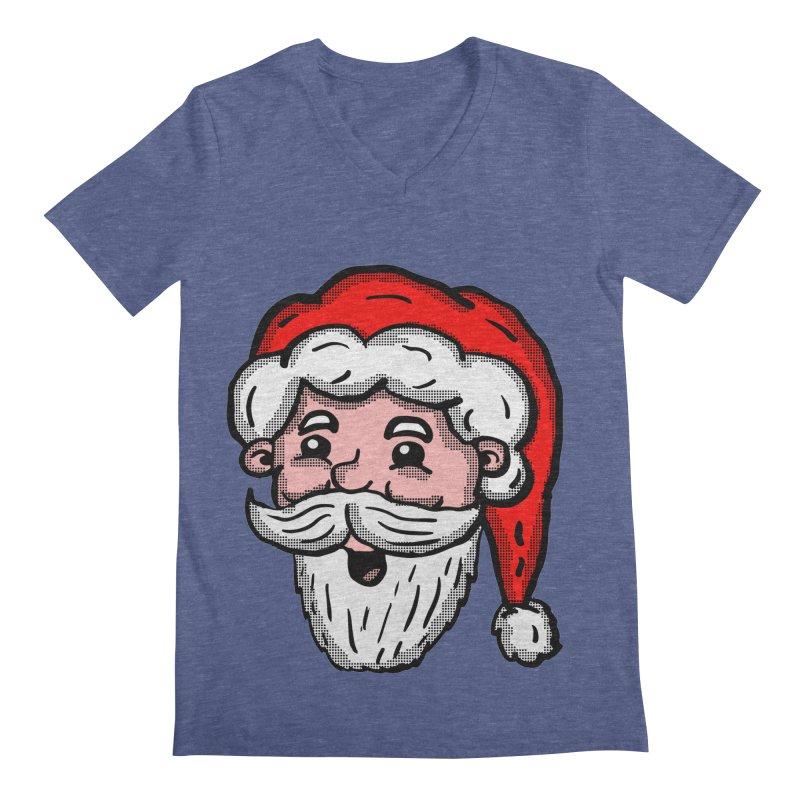 Cartoon Santa Head Men's V-Neck by ericallen's Artist Shop