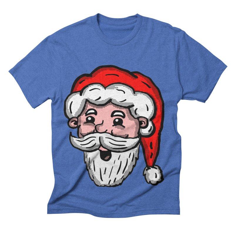 Cartoon Santa Head Men's Triblend T-shirt by ericallen's Artist Shop