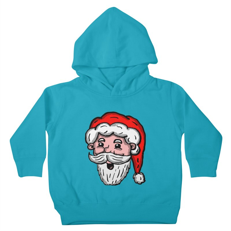 Cartoon Santa Head Kids Toddler Pullover Hoody by ericallen's Artist Shop