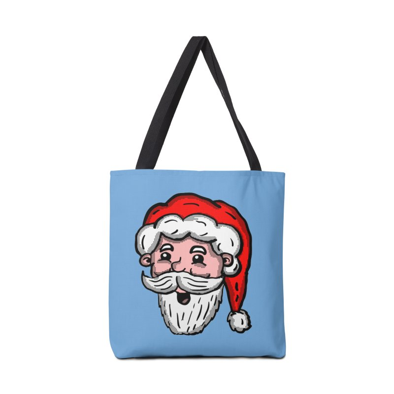 Cartoon Santa Head Accessories Bag by ericallen's Artist Shop