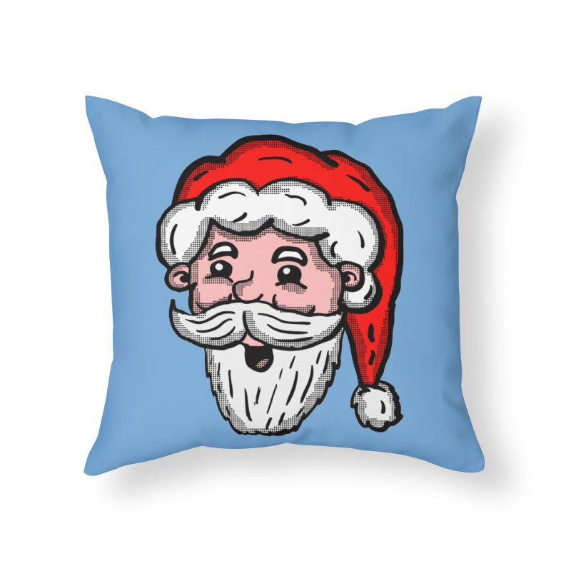 Cartoon Santa Head Home Throw Pillow by ericallen's Artist Shop