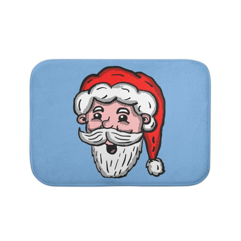 Cartoon Santa Head Home Bath Mat by ericallen's Artist Shop