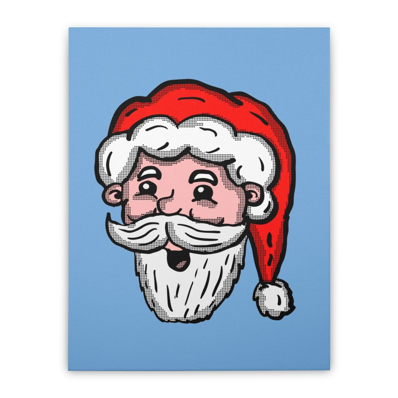 Cartoon Santa Head Home Stretched Canvas by ericallen's Artist Shop