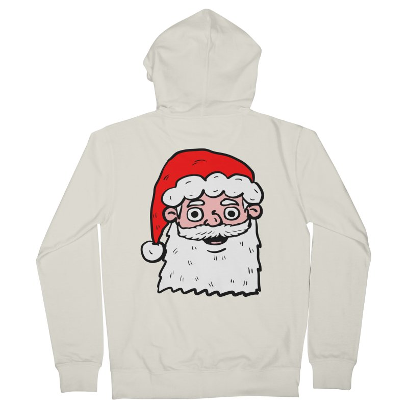 Cartoon Santa Head 2 Men's Zip-Up Hoody by ericallen's Artist Shop