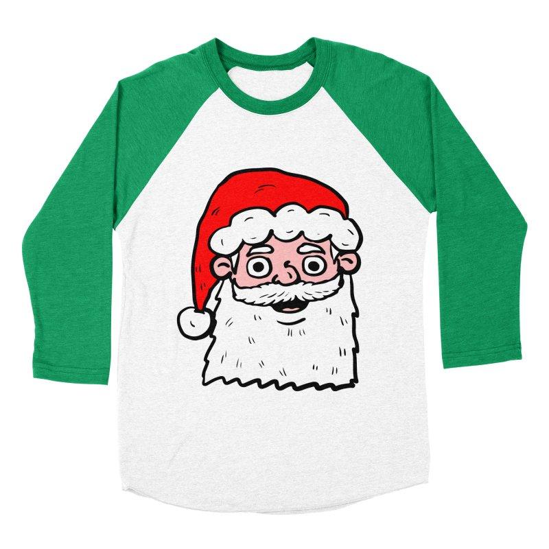 Cartoon Santa Head 2 Women's Baseball Triblend T-Shirt by ericallen's Artist Shop
