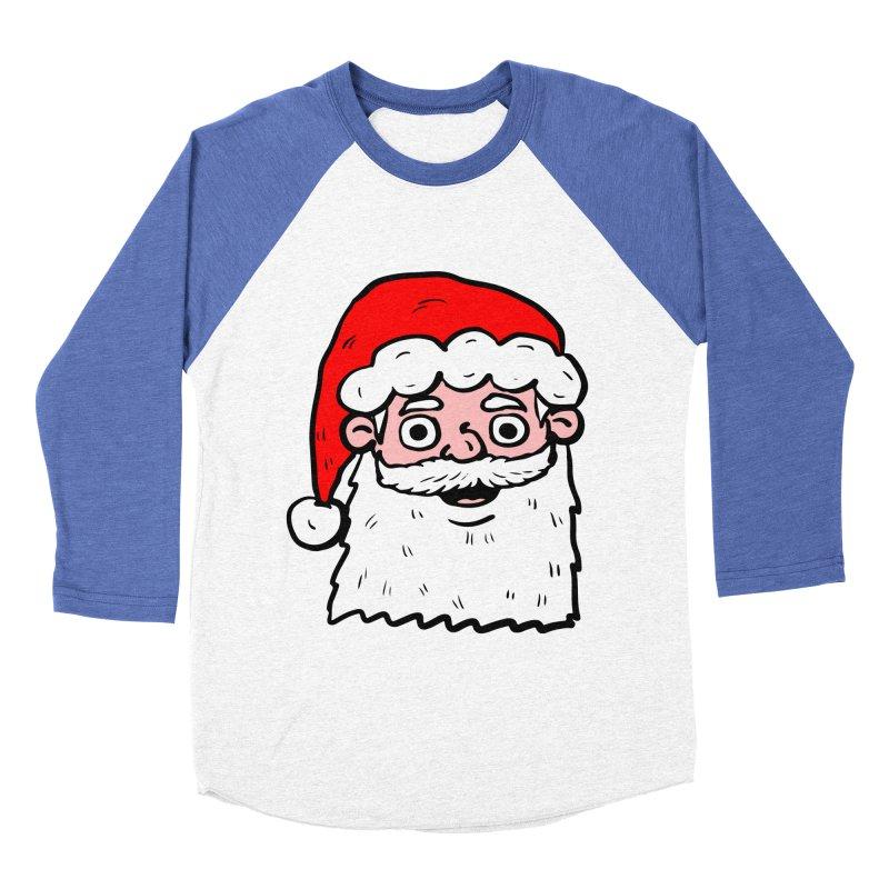 Cartoon Santa Head 2 Men's Baseball Triblend T-Shirt by ericallen's Artist Shop