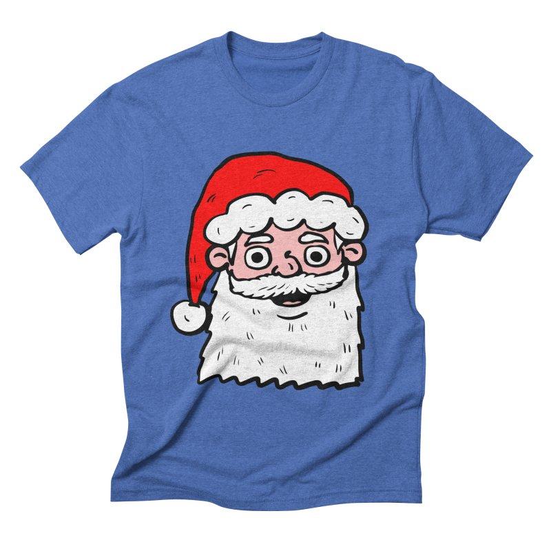 Cartoon Santa Head 2 Men's Triblend T-shirt by ericallen's Artist Shop