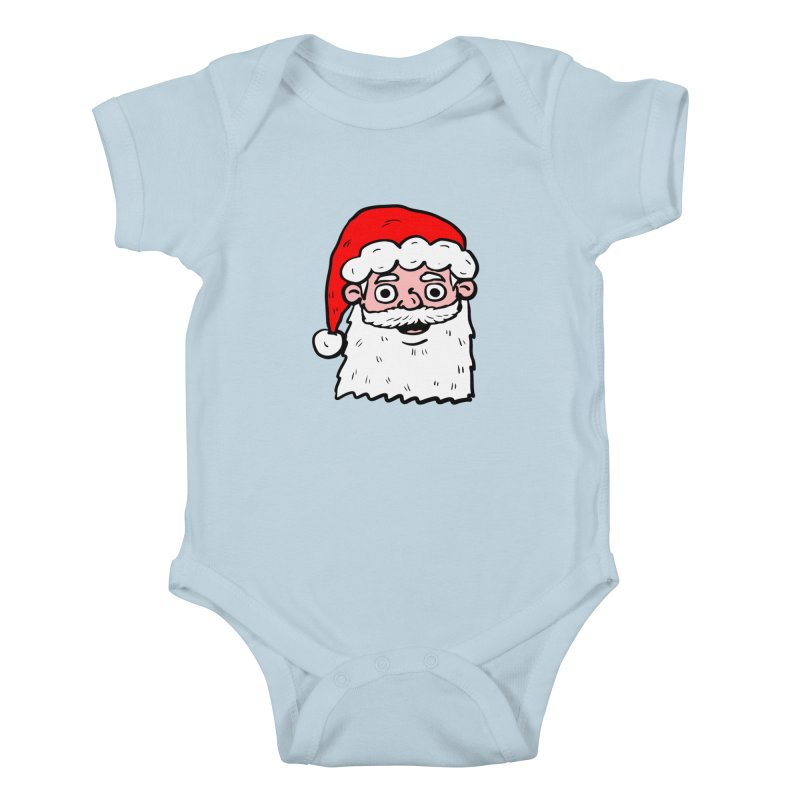 Cartoon Santa Head 2 Kids Baby Bodysuit by ericallen's Artist Shop