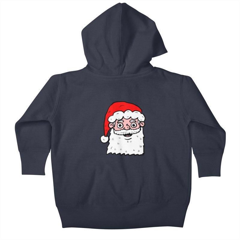 Cartoon Santa Head 2 Kids Baby Zip-Up Hoody by ericallen's Artist Shop