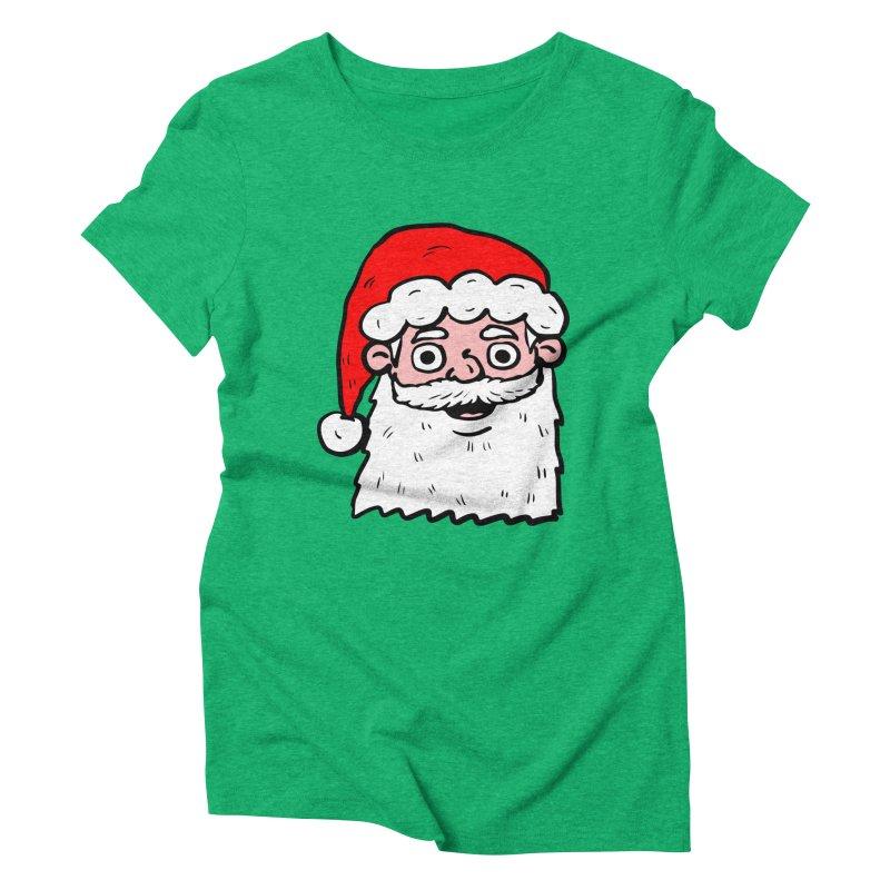 Cartoon Santa Head 2 Women's Triblend T-shirt by ericallen's Artist Shop
