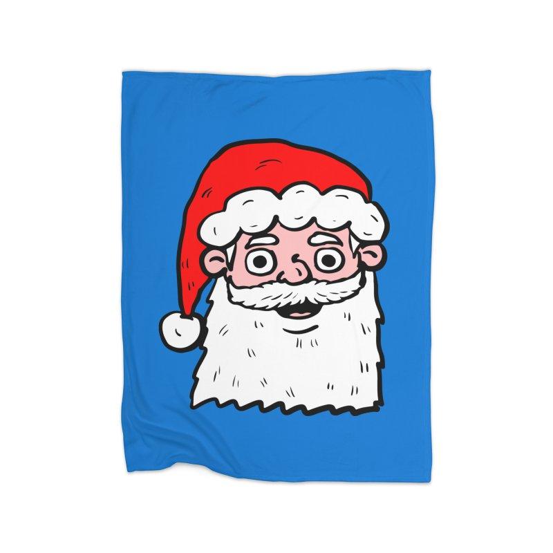 Cartoon Santa Head 2 Home Blanket by ericallen's Artist Shop