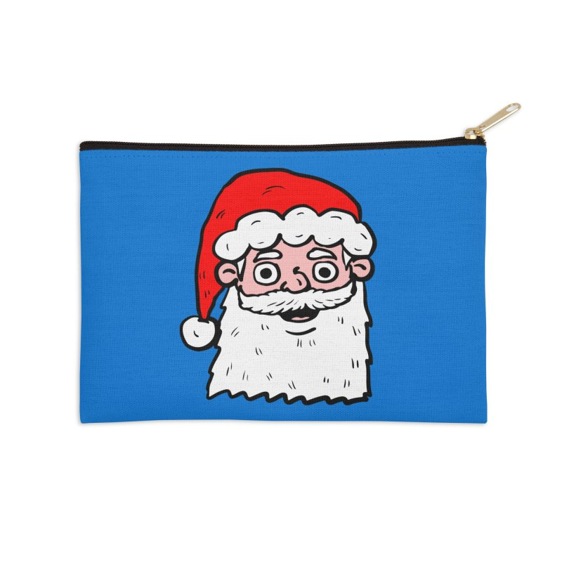 Cartoon Santa Head 2 Accessories Zip Pouch by ericallen's Artist Shop