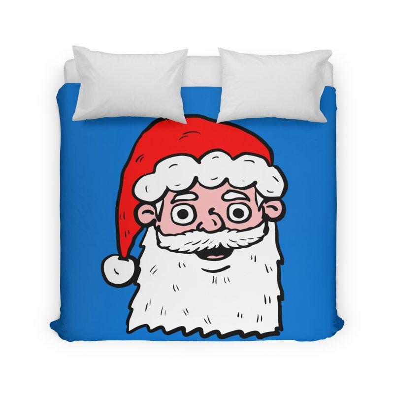 Cartoon Santa Head 2 Home Duvet by ericallen's Artist Shop