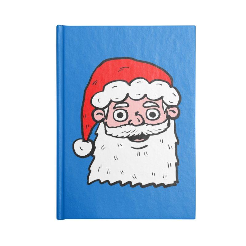 Cartoon Santa Head 2 Accessories Notebook by ericallen's Artist Shop