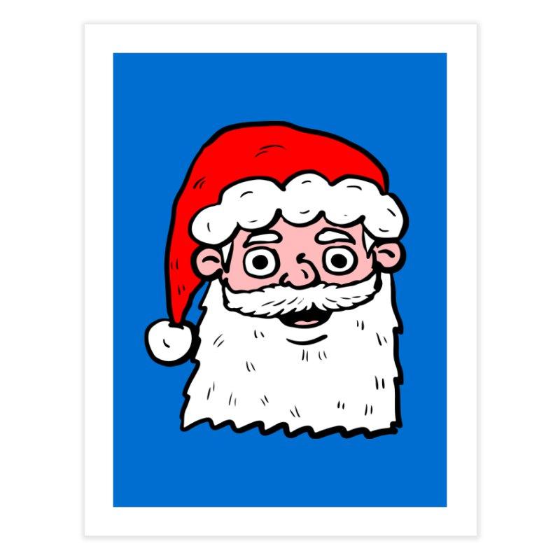 Cartoon Santa Head 2 Home Fine Art Print by ericallen's Artist Shop