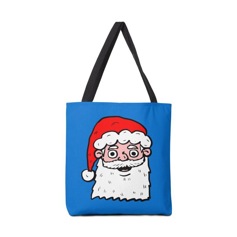 Cartoon Santa Head 2 Accessories Bag by ericallen's Artist Shop
