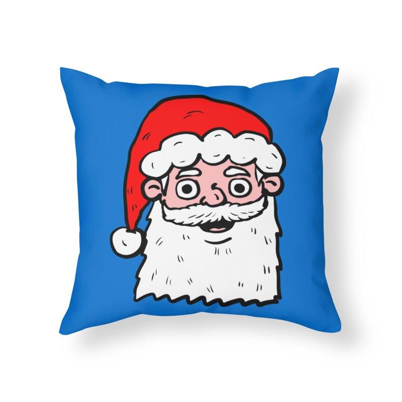 Cartoon Santa Head 2 Home Throw Pillow by ericallen's Artist Shop