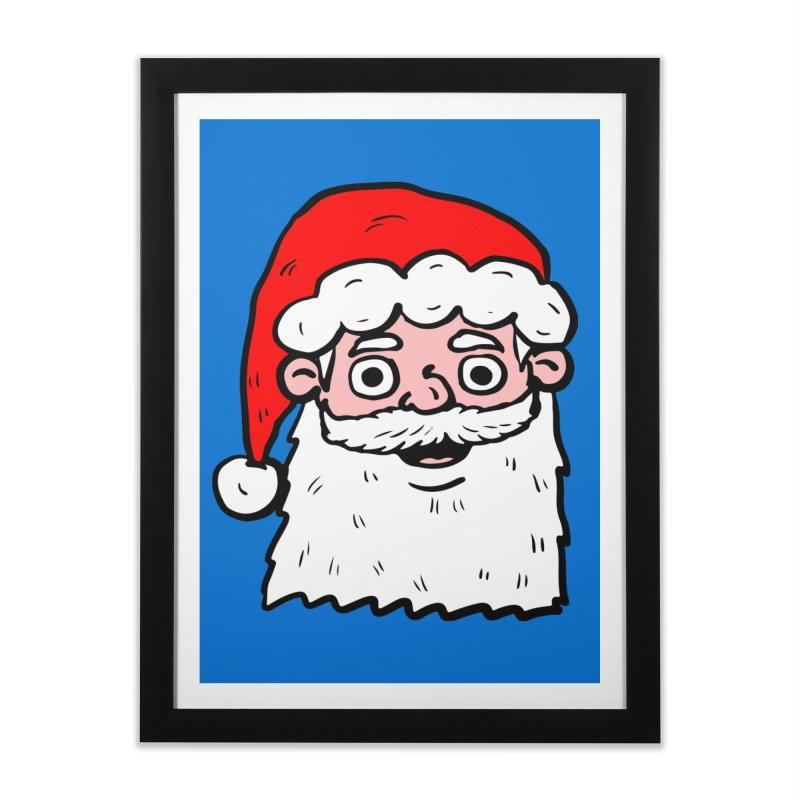 Cartoon Santa Head 2 Home Framed Fine Art Print by ericallen's Artist Shop