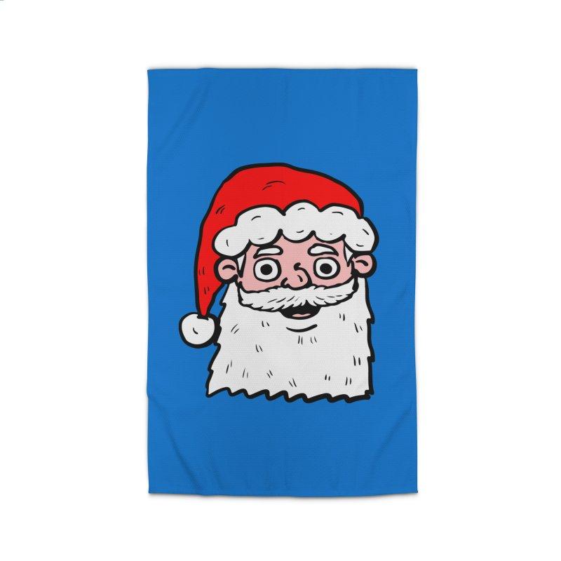 Cartoon Santa Head 2 Home Rug by ericallen's Artist Shop