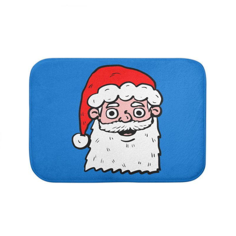 Cartoon Santa Head 2 Home Bath Mat by ericallen's Artist Shop