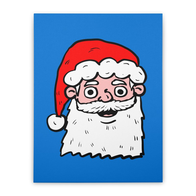 Cartoon Santa Head 2 Home Stretched Canvas by ericallen's Artist Shop