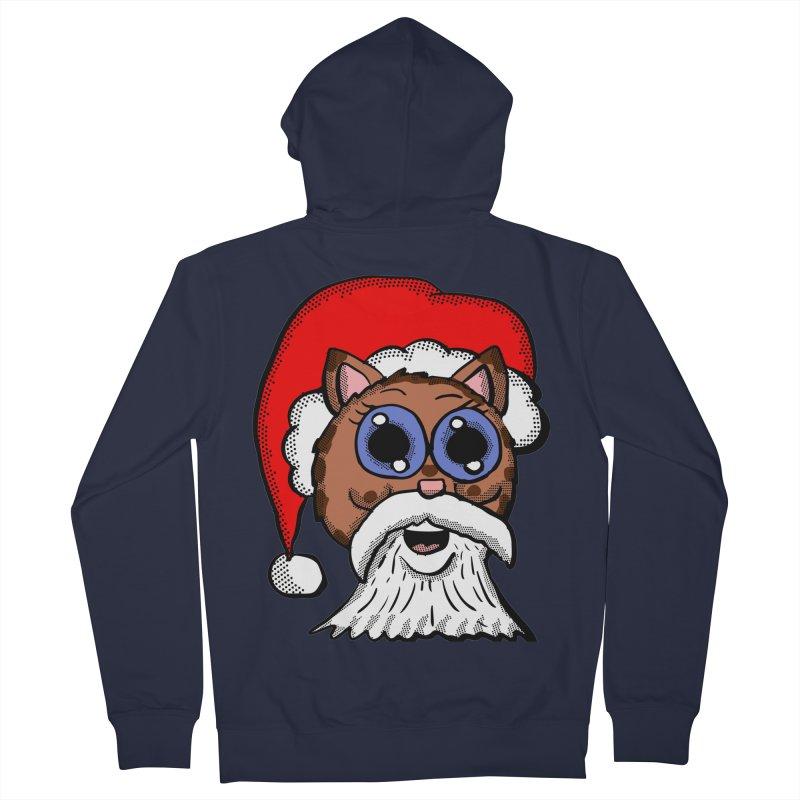 Santa Kitty Men's Zip-Up Hoody by ericallen's Artist Shop