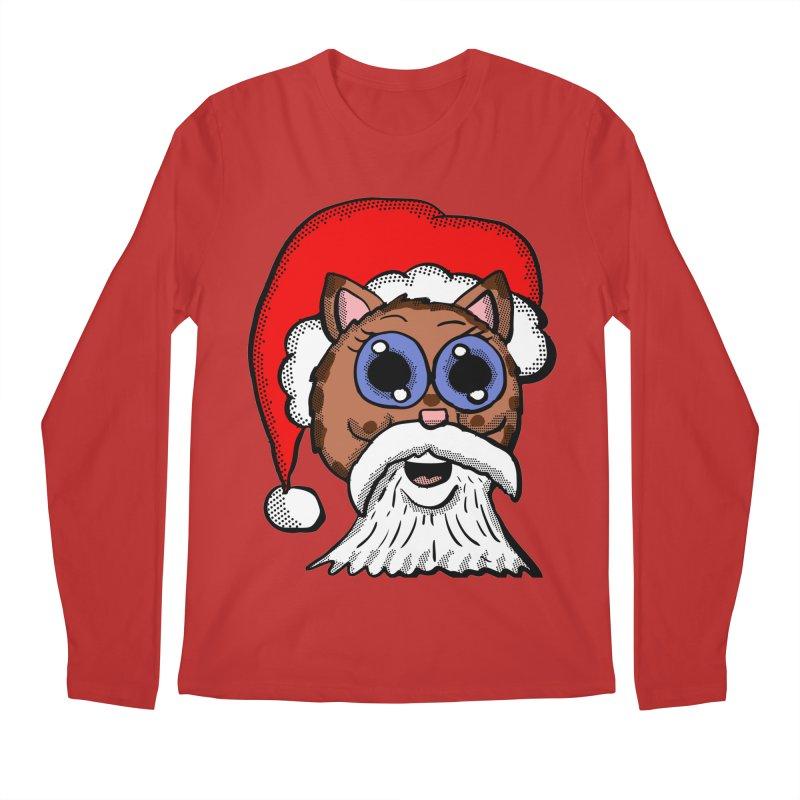 Santa Kitty Men's Longsleeve T-Shirt by ericallen's Artist Shop
