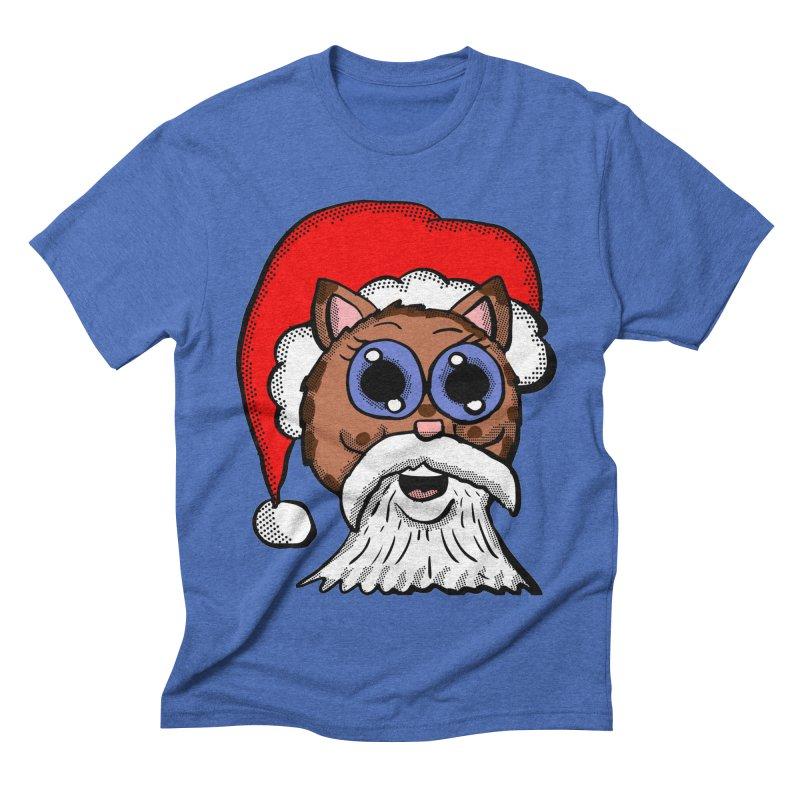 Santa Kitty Men's Triblend T-shirt by ericallen's Artist Shop