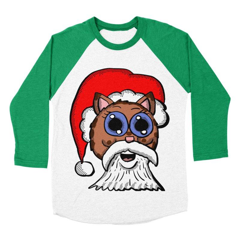 Santa Kitty Men's Baseball Triblend T-Shirt by ericallen's Artist Shop