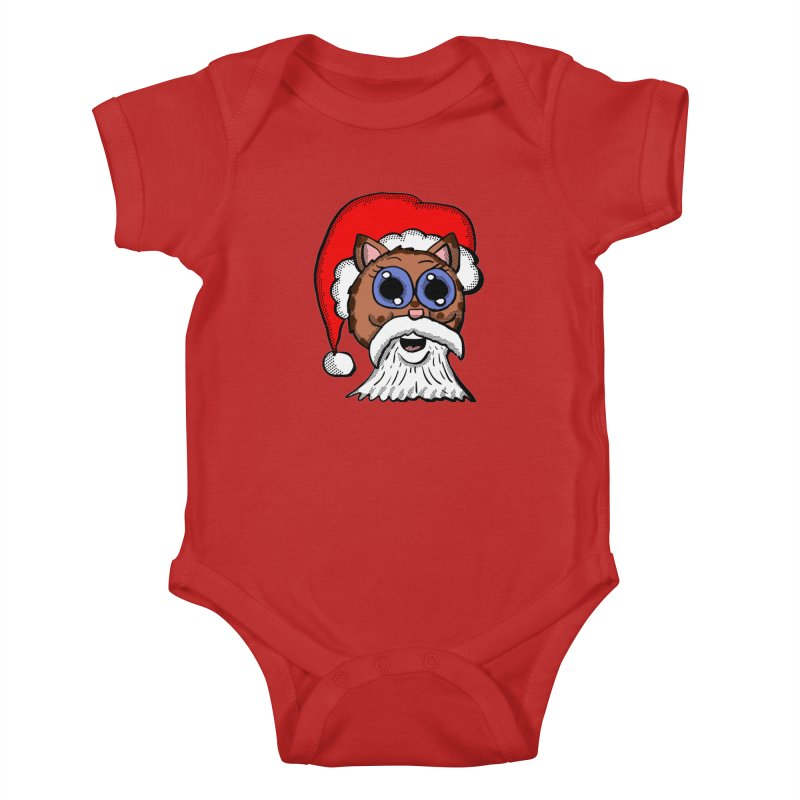 Santa Kitty Kids Baby Bodysuit by ericallen's Artist Shop