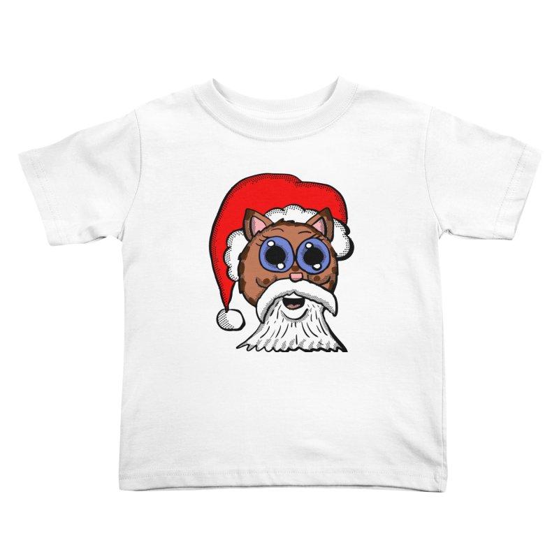Santa Kitty Kids Toddler T-Shirt by ericallen's Artist Shop