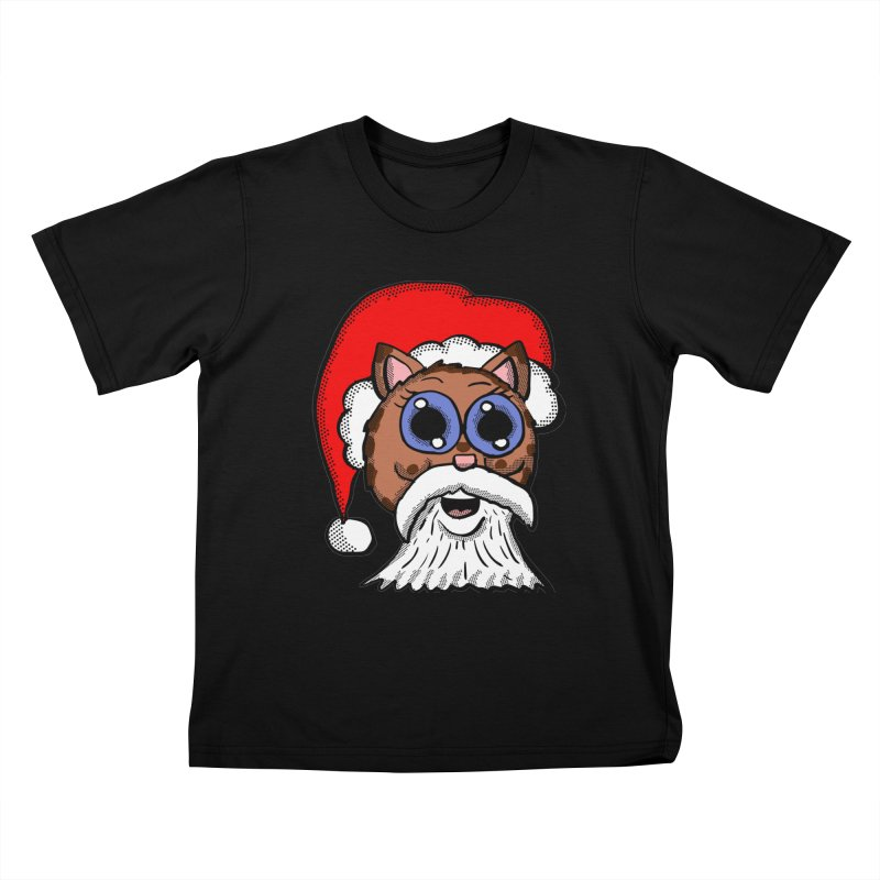 Santa Kitty Kids T-shirt by ericallen's Artist Shop